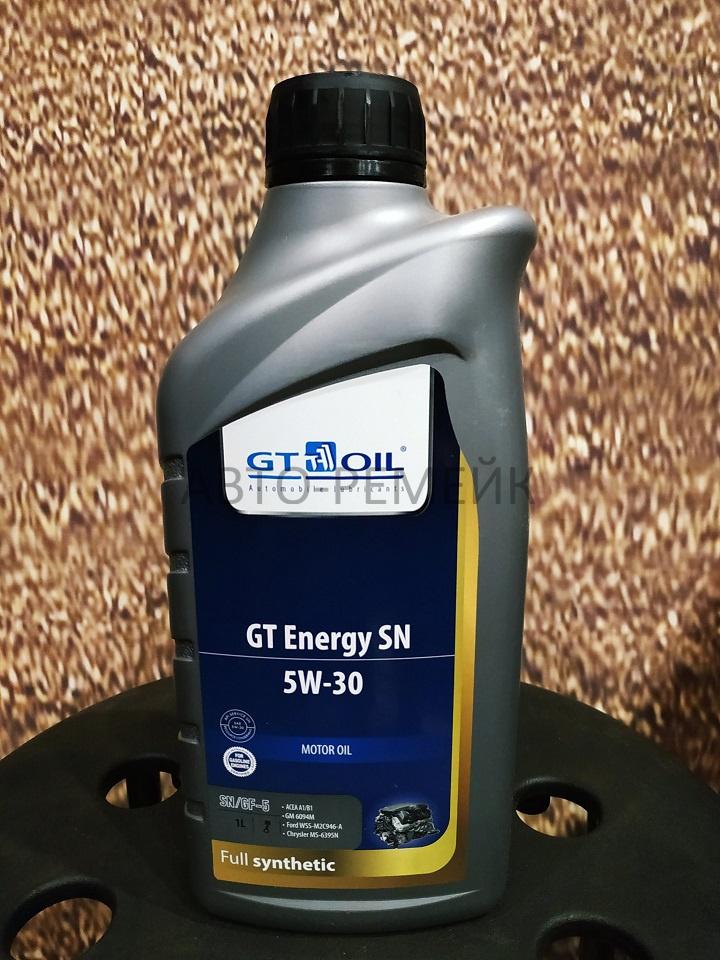 Масло моторное синтетическое GT Energy SN, SAE 5W30, API SN 1л